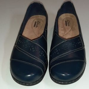 CLARKS COLLECTION  NAVY BLUE LOAFERS